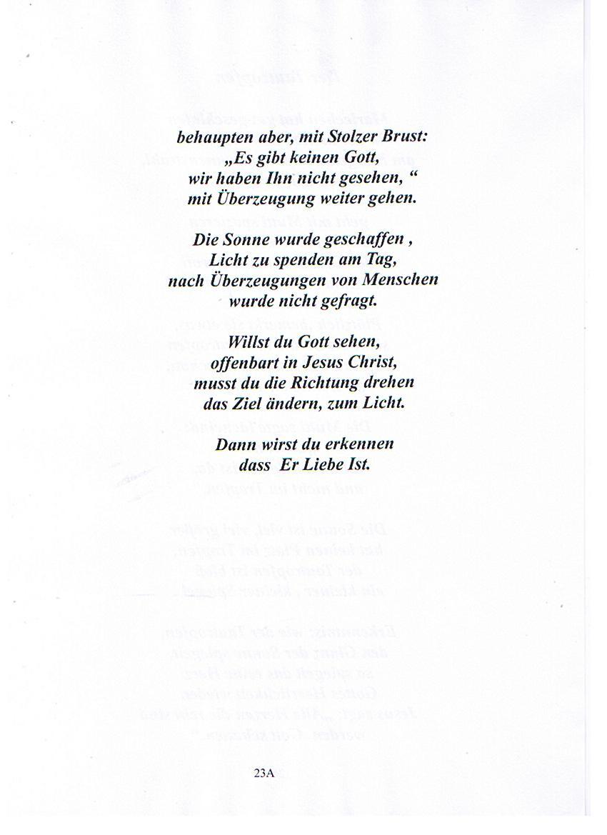 Gedicht licht und schatten