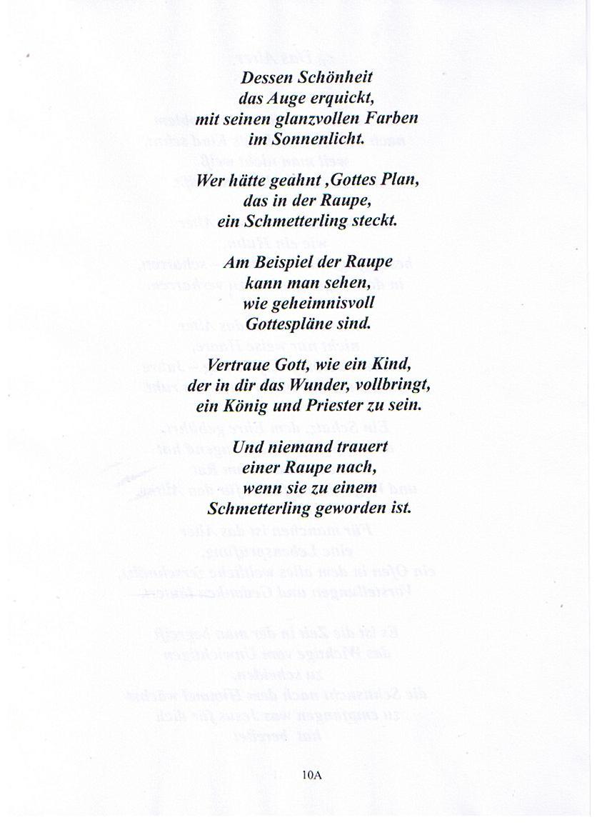 Ausgezeichnet Gedicht Vorlagen Für Kinder Ideen - Beispiel ...